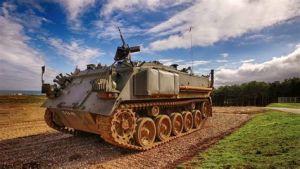 tank in a field