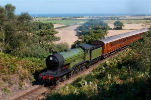 steam train sea