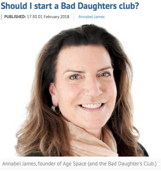 Should I start a Bad Daughters Club? - Eastern Daily Press (February 2018)