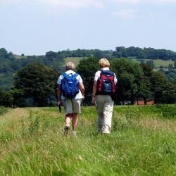 Walkers in Kent rambling exercise for elder people