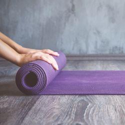 Yoga mat for elderly yoga in Kent