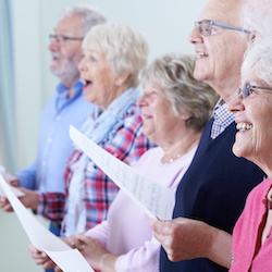 Dementia-friendly art and singing groups