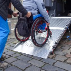 Wheelchair accessible ambulance service.