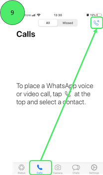 Making a WhatsApp Video Call on iPhone