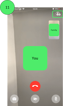 Example of WhatsApp Video Calling on iPhone