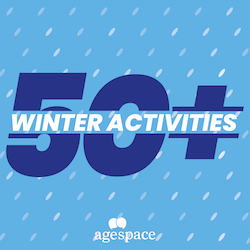 50+ winter activities for the elderly logo