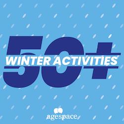 50+ winter activities for the elderly logo